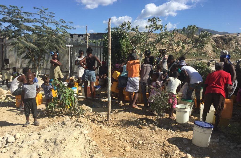 Water voor de school en buurtbewoners in Galette Greffin, Haiti